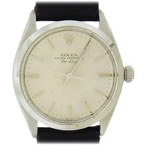 Rolex Steel 34mm Silver No numerals United States of America, New York, New York
