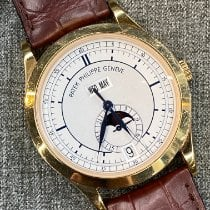 Patek Philippe Rose gold Automatic Silver No numerals 38mm pre-owned Annual Calendar