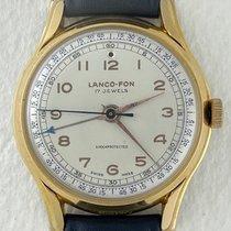 Lanco Gold/Steel 37mm Manual winding Lanco – Fon Alarm pre-owned United States of America, California, Woodland Hills