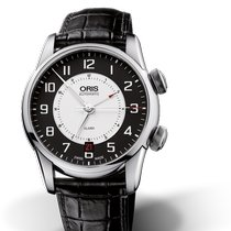 Oris Artelier Alarm Steel 42.5mm Black