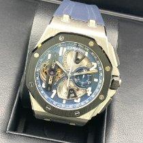 Audemars Piguet Royal Oak Offshore Tourbillon Chronograph Platinum 44mm Blue Arabic numerals