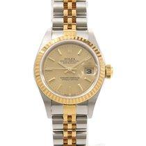 Rolex (ロレックス) レディース デイトジャスト 新品 自動巻き 正規のボックス付属の時計 79173