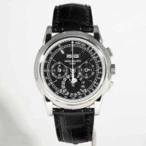 Patek Philippe Perpetual Calendar Chronograph Platino 40mm Negro Sin cifras