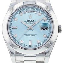 Rolex Day-Date II Platin 41mm Weiß Römisch Schweiz, Genève