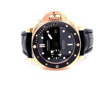 Panerai Luminor Submersible Oro rosa 42mm Negro Sin cifras