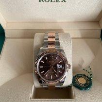 Rolex Datejust II Złoto/Stal 41mm Brązowy Bez cyfr