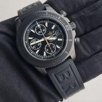 Breitling Superocean Chronograph II Staal 44mm Zwart Geen cijfers