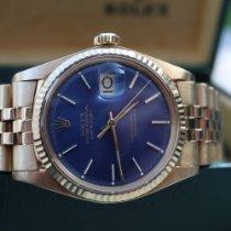 Rolex Datejust Geelgoud 36mm Blauw Geen cijfers Nederland, oirschot