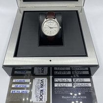 Maurice Lacroix Les Classiques Date Stahl 38mm Silber Keine Ziffern