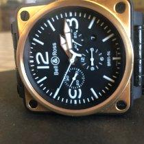 Bell & Ross BR 01-94 Chronographe Золото/Cталь 46mm Черный Aрабские