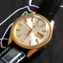 Seiko 5 Sports pre-owned 38mm White Date Weekday Leather