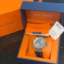 Locman Montecristo Titanium 44mm Silver Arabic numerals