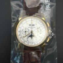Patek Philippe Perpetual Calendar Chronograph Oro amarillo 40mm Plata