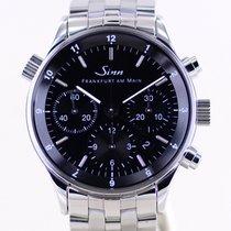 Sinn 6000 Steel 38.5mm Black Arabic numerals