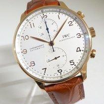 IWC Aur rosu Cronograf Alb 41mm folosit Portuguese Chronograph