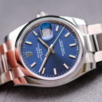 Rolex Oyster Perpetual Date Steel 34mm Blue No numerals United Kingdom, Whitby- North Yorkshire