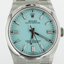 Rolex Oyster Perpetual Steel 36mm Blue No numerals