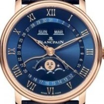 Blancpain Villeret Quantième Complet new 2021 Automatic Watch with original box and original papers 6654-3640-55B