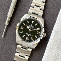 Rolex Explorer Staal 36mm Zwart Arabisch Nederland, Naarden