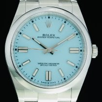 Rolex Oyster Perpetual Steel 41mm Blue No numerals