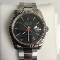 Rolex Datejust Turn-O-Graph Steel 36mm Black No numerals United Kingdom, Oldham