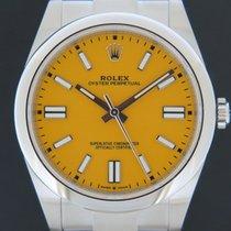 Rolex Oyster Perpetual Acier 41mm Jaune Sans chiffres Belgique, bruxelles