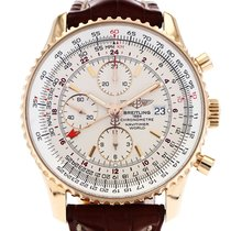 Breitling Yellow gold Automatic White 46mm pre-owned Navitimer