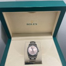 Rolex Oyster Perpetual 34 Staal 34mm Roze Geen cijfers Nederland, Rotterdam