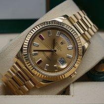 Rolex Day-Date II Aur galben 41mm Auriu Roman