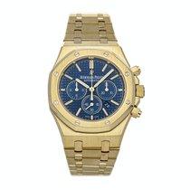 Audemars Piguet Yellow gold Automatic Blue No numerals 41mm Royal Oak Chronograph