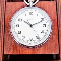 풀조 중고시계 수동감기 64mm 은색 미네랄 글라스 방수 기능 없음