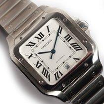 Cartier Steel 38mm pre-owned Santos (submodel)