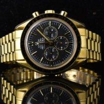 Omega Gelbgold Handaufzug Schwarz 42mm gebraucht Speedmaster Professional Moonwatch
