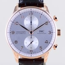 IWC Portuguese Chronograph Oro rosa 41mm Argento Arabi