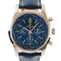 Breitling Transocean Chronograph Unitime Red gold 46mm Blue