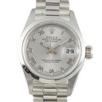 Rolex Platyna Automatyczny Srebrny 26mm używany Lady-Datejust