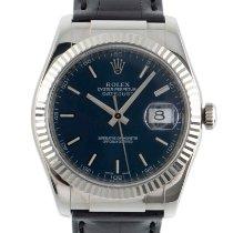 Rolex Złoto białe Automatyczny Niebieski 36mm używany Datejust