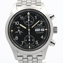 IWC Pilot Chronograph pre-owned 39mm Black Chronograph Date Steel