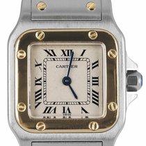 Cartier Santos Galbée Gold/Steel 24mm Roman numerals