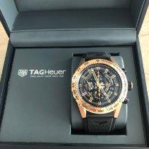 TAG Heuer Rose gold Automatic Black No numerals 43mm new Carrera Calibre HEUER 01
