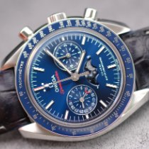 Omega Steel Automatic Blue No numerals pre-owned Speedmaster Professional Moonwatch Moonphase