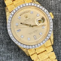 Rolex Day-Date 36 Aur galben 36mm De culoarea şampaniei Fara cifre