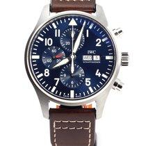 IWC 파일럿 크로노그래프 스틸 43mm 파란색 아라비아 숫자