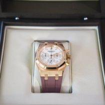 Audemars Piguet Royal Oak Chronograph Roségoud 39mm Wit Geen cijfers Nederland, enkhuizen