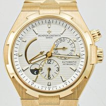 Vacheron Constantin Yellow gold Automatic Silver No numerals 42mm pre-owned Overseas Dual Time