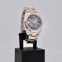 Rolex Datejust II Goud/Staal 41mm Grijs Geen cijfers Nederland, Velp
