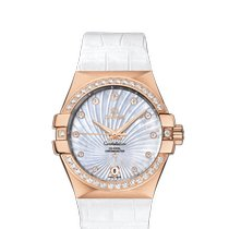 Omega Red gold Automatic Mother of pearl 35mm new Constellation Ladies