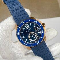 Cartier Calibre de Cartier Diver Rose gold 42mm Blue