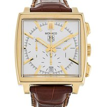 TAG Heuer Yellow gold Automatic 37.5mm pre-owned Monaco