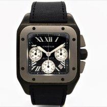 Cartier Titanium Automatic Black 42mm pre-owned Santos 100